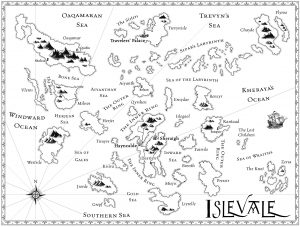 Map of Islevale, for the Islevale Cycle, by D.B. Jackson