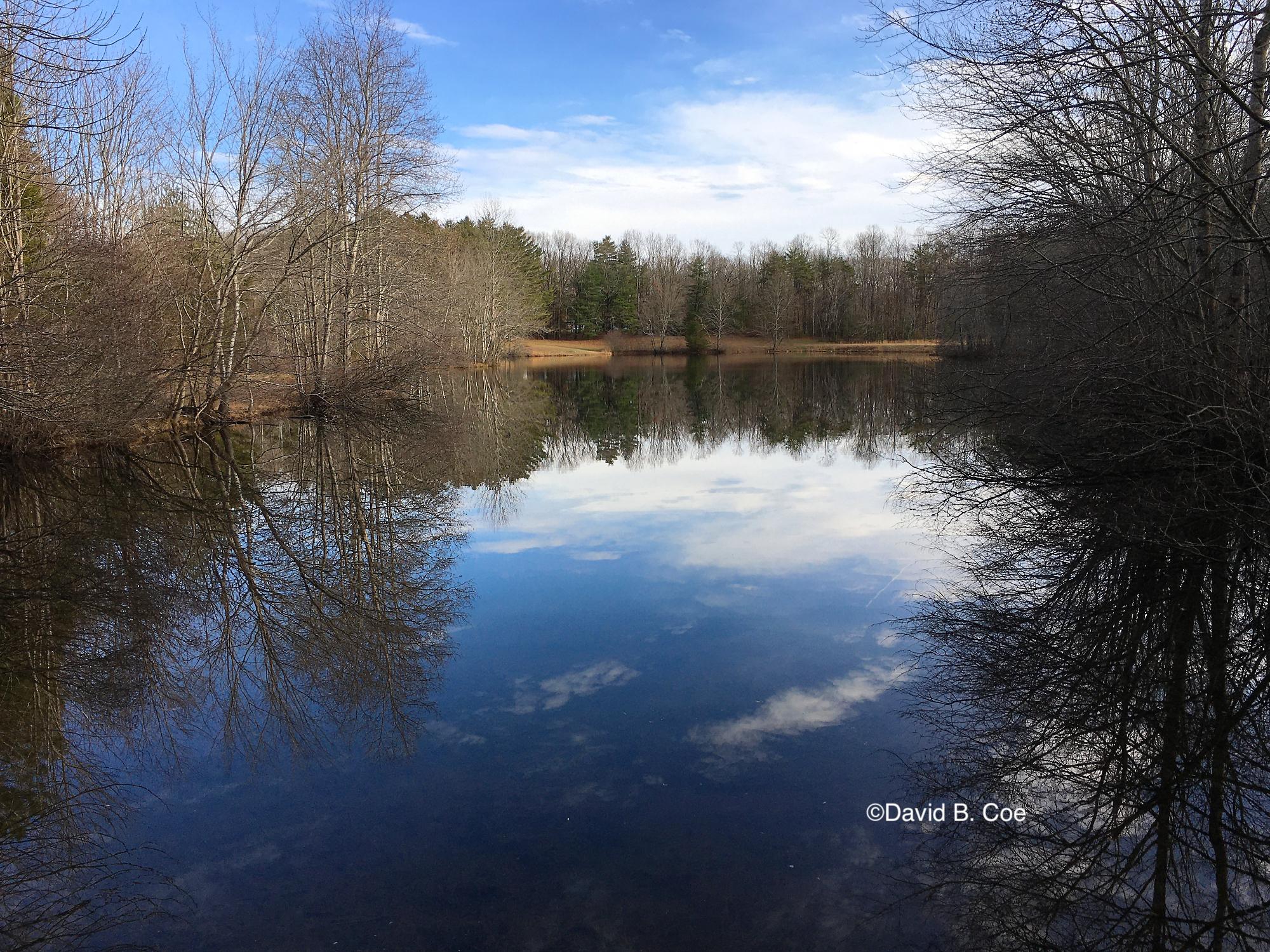 """Winter Reflections II, Lake Cheston, Sewanee,"" by David B. Coe"
