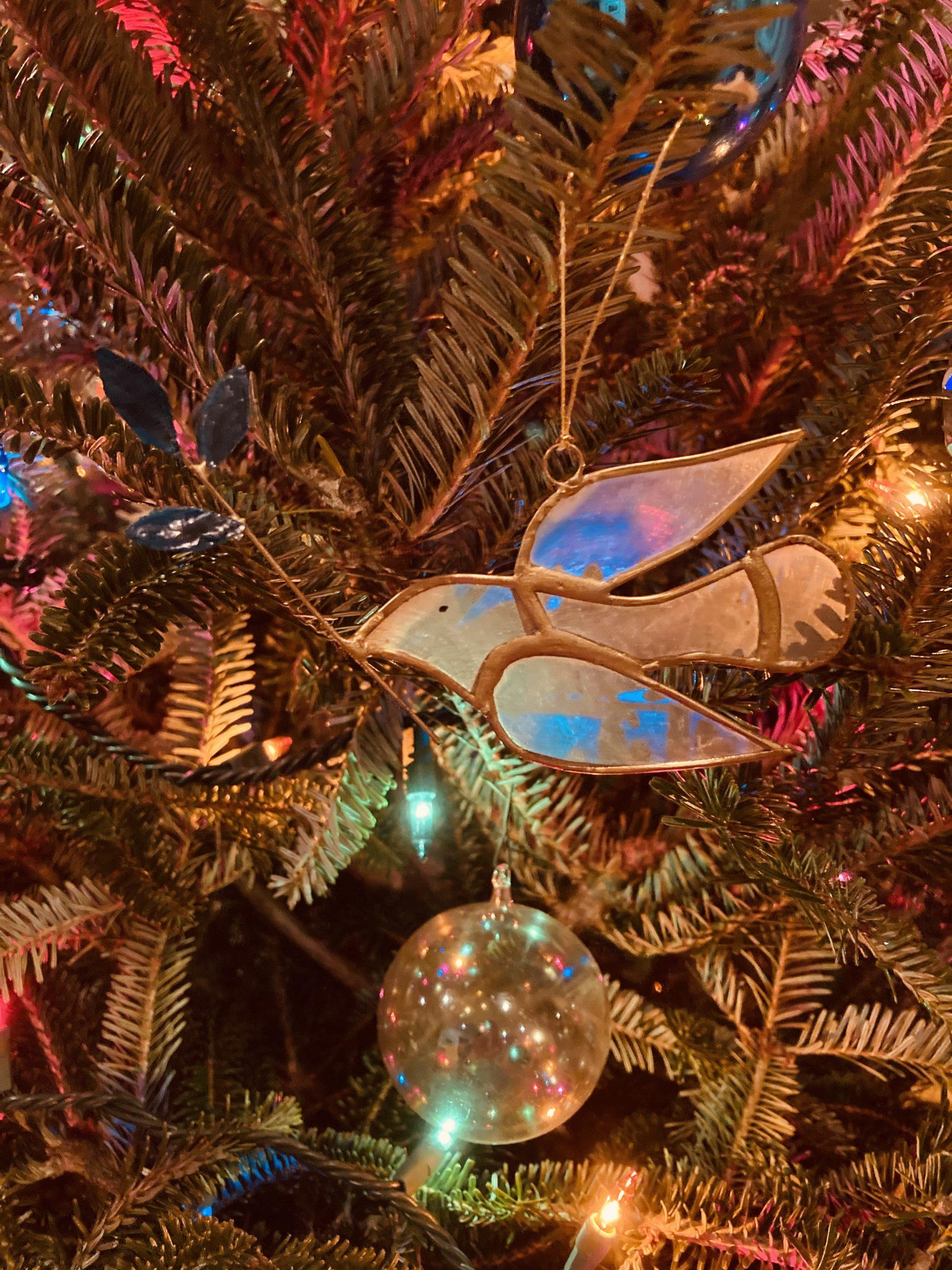 Peace Dove on Christmas Tree, by David B. Coe